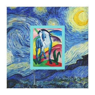 Impressão Em Tela Boa noite, cavalo azul