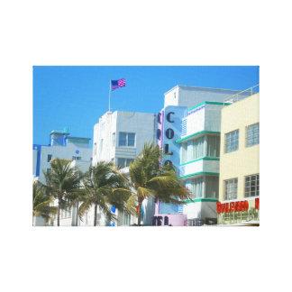 Impressão Em Tela Boa vinda de Miami