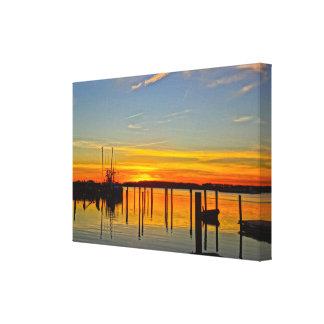 Impressão Em Tela Boathouse Hilton Head da angra do crânio da