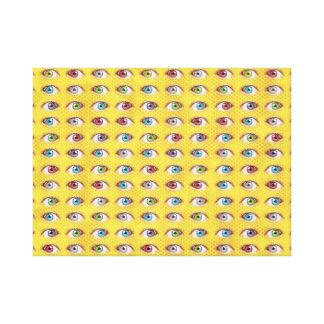 Impressão Em Tela Bolas do olho no fundo de intervalo mínimo