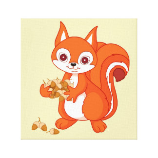Impressão Em Tela Borbulha o esquilo útil