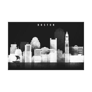 Impressão Em Tela Boston preto e branco