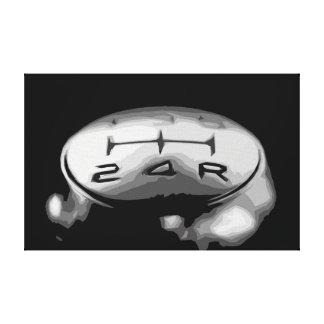 Impressão Em Tela Botão da engrenagem de um design simples de carro