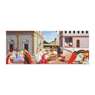 Impressão Em Tela Botticelli três milagre do santo Zenobius