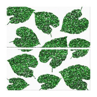 Impressão Em Tela Branco botânico Cali da folha verde tropical de