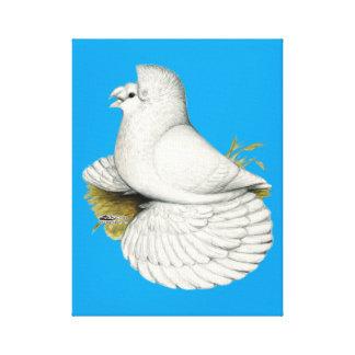 Impressão Em Tela Branco do pombo da trompetista