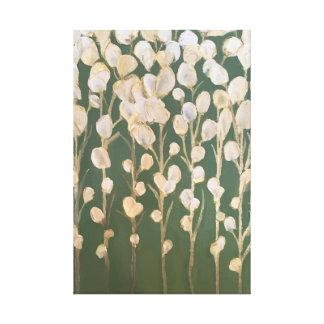 Impressão Em Tela Branco e belas artes das flores do ouro