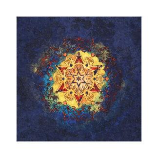 Impressão Em Tela Brilho da estrela no ouro e no azul