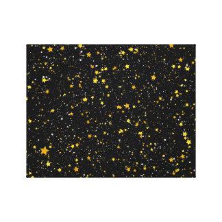 Impressão Em Tela Brilho Stars3 - Preto do ouro