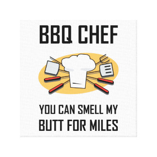 Impressão Em Tela Bumbuns do cheiro do cozinheiro chefe do CHURRASCO