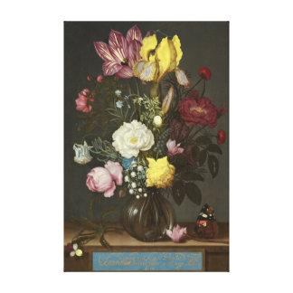 Impressão Em Tela Buquê das flores em um vaso de vidro