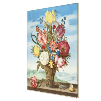 Impressão Em Tela Buquê das flores em uma borda