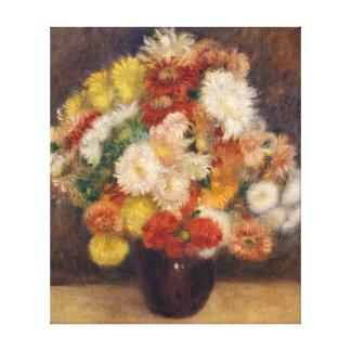 Impressão Em Tela Buquê de Auguste Renoir dos crisântemos