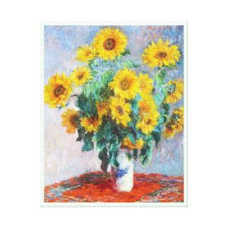 Impressão Em Tela Buquê dos girassóis, Claude Monet 1880