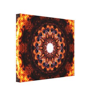 Impressão Em Tela Burning abstrato