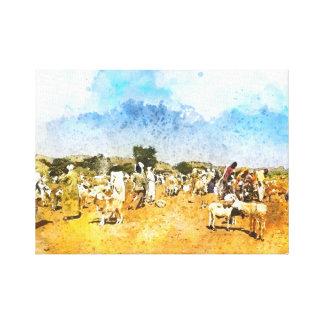 Impressão Em Tela Cabra que troca, mercado livre de Darfur do