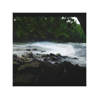 Impressão Em Tela Cachoeira da represa