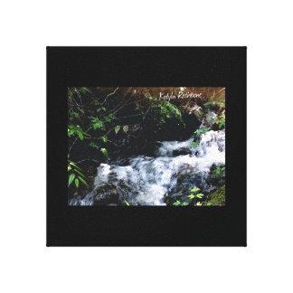 Impressão Em Tela Cachoeira do Snowbird grande