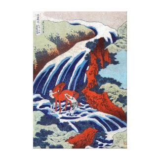 Impressão Em Tela Cachoeiras de Katsushika Hokusai Yoshino