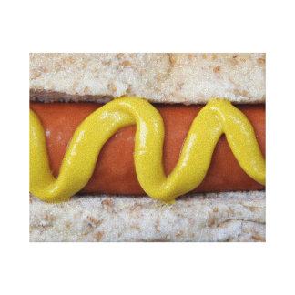 Impressão Em Tela cachorro quente delicioso com fotografia da