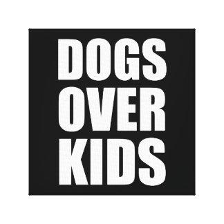 Impressão Em Tela Cães sobre citações engraçadas dos miúdos