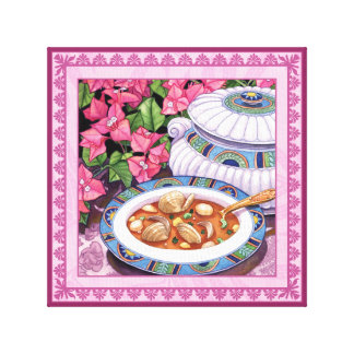 Impressão Em Tela Café da ilha - a sopa é servida