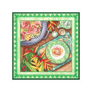 Impressão Em Tela Café da ilha - frigideira chinesa de Heliconia