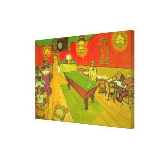 Impressão Em Tela Café da noite de Van Gogh, belas artes do vintage