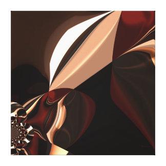 Impressão Em Tela Caixa castanho chocolate do chocolate da arte abst