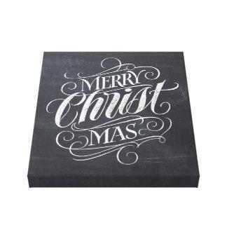Impressão Em Tela Caligrafia real do cristão do giz do Feliz Natal