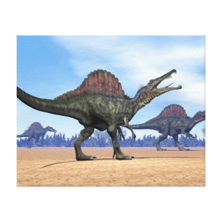 Impressão Em Tela Caminhada dos dinossauros de Spinosaurus - 3D
