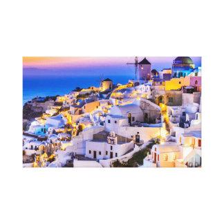 Impressão Em Tela Canvas, Oia Santorini