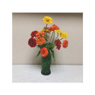 Impressão Em Tela Canvas, vermelho, laranja, e Flowersers amarelo