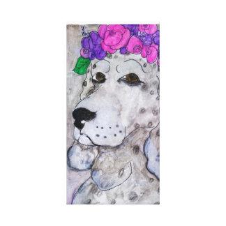 Impressão Em Tela Cão cinzento