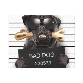 Impressão Em Tela Cão do Mugshot, pug engraçado, pug