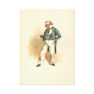 Impressão Em Tela Capitão Cuttle Dombey & filho do vintage