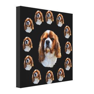 Impressão Em Tela Cara do rei Charles Cavalier Spaniel Cão,