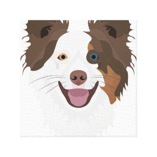 Impressão Em Tela Cara feliz border collie dos cães da ilustração