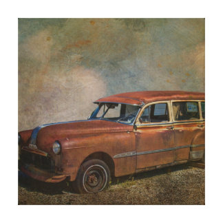 Impressão Em Tela Carro antigo velho oxidado