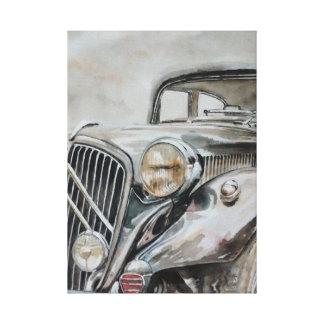 Impressão Em Tela Carro clássico - menina idosa