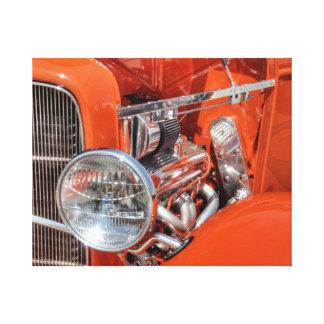 Impressão Em Tela Carro clássico vermelho
