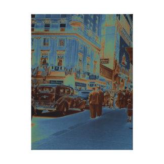 Impressão Em Tela Carro da fotografia dos anos 30 do hotel da casa