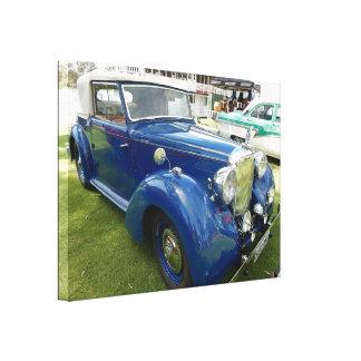 Impressão Em Tela Carro do azul do vintage