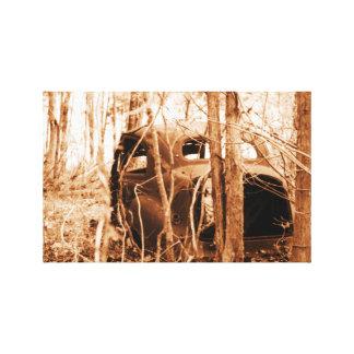 Impressão Em Tela Carro nas madeiras #1