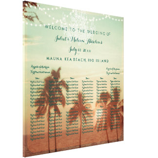 Impressão Em Tela Carta do assento da praia/casamento de PixDezines