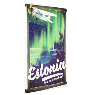 Impressão Em Tela Cartaz da aventura da aurora boreal de Estónia