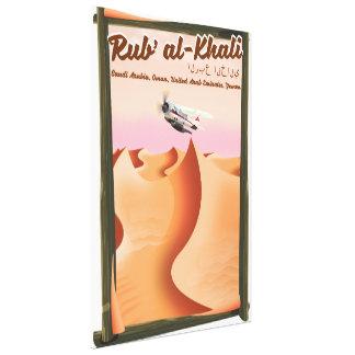 Impressão Em Tela Cartaz das férias de Khali Arábia Saudita do al de