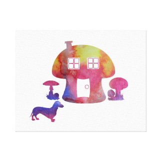 Impressão Em Tela Casa do cogumelo
