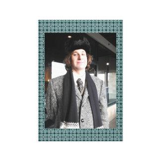 Impressão Em Tela Casaco e chapéu forrado a pele cinzentos
