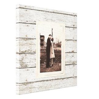 Impressão Em Tela casamento de madeira do celeiro do celeiro branco